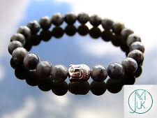 Buddha Chinese Labradorite Natural Gemstone Bracelet 7-8'' Elasticated Healing
