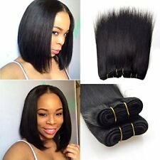 6pcs=270g 7A 8'' Straight Bob Short Human Hair Extensions Weave 45g/pc Full head