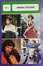 US Funny Girl Singer Actress Barbara Streisand French Film Trade Card