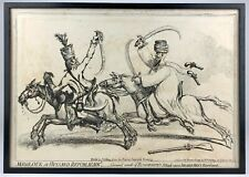 JAMES GILLRAY (1757-1815) -MEMOUK ET HUSSARD REPUBLICAN- 1799 H.HUMPHREY ETCHING