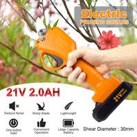 21V Cordless Electric Branch Scissors 30mm Pruning Shear Pruner Ratchet Cutter