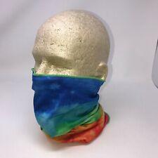 Tie Dye Sunset Sky Rainbow Multi Function Head Wear Neck Gaiter Face Mask Scarf