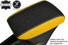 BLACK & YELLOW  LEATHER ARMREST COVER FITS VAUXHALL OPEL ASTRA K MK7 2016+