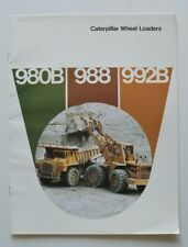 CATERPILLAR Wheel Loaders 980B 988 992B 1908s dealer brochure - English - USA