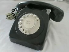 GPO  Telephone - Retro Vintage Style Desk Phone - Working Rotary Dial - Black