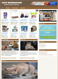 CATS INFORMATION - Affiliate Website For Sale - Free Installation