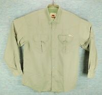 Dakota Grizzly Men's L/S Light Green Pearl Snap Vented Nylon Shirt, Size: Large