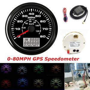 0-80MPH GPS Speedometer 0-120km/h Speed Odometer Trip Meter Cog LCD Display IP67