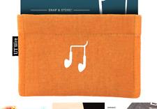 UT Wire Pocket Earbud Earphone Case Pouch Bag Organizer, Orange Earbud Case