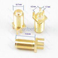 SMA jack female pin square panel socket PCB Edge 1.7mm Mount Solder RF Adapter