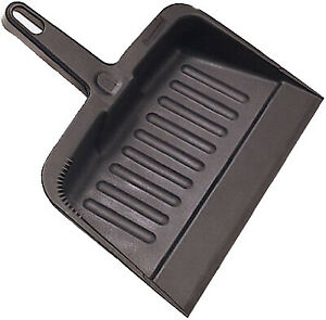 Rubbermaid Commercia FG200628CHAR Heavy Duty Dust Pan, Charcoal, Commercial