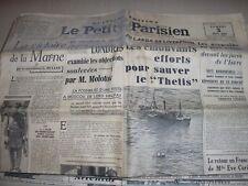 """Journal """"LE PETIT PARISIEN"""",du 3 juin 1939,Menace de guerre;Tension,(j151"""