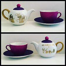 Beauty And The The Beast Inspired Tea For One Glitter Tea Pot  Mini Teapot