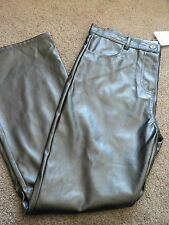 Girls Size 8 Leather Look Groovy Pants Black - New Bargain Price