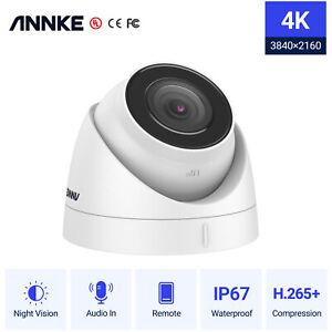 ANNKE C800 4K 8MP PoE Security IP Turret Camera Audio Night IP67 for Security UK