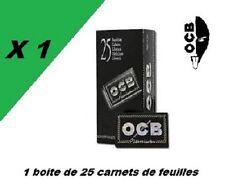 OCB noir courte double premium 25 carnets de 100 petites feuilles