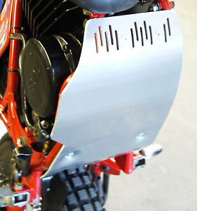 Fantic 200 Trial Bike Sump Guard And Bracket  For Rear Kick model