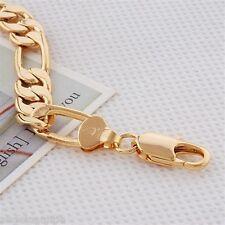 18K Yellow Gold Filled Figaro Chain Bracelet (B-168)