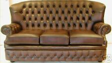 Chesterfield Leather suite BRAND NEW ANTIQUE BROWN