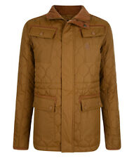 New Crosshatch Men's Diamond Quilted Jacket S M L XL XXL Black Red Mustard Coat