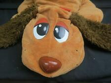 BIG BROWN 2007 POUND PUPPIES PILLOW PUPPY DOG RED COLLAR PLUSH PAW PRINTS SOFT