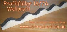 76/18 Profilfüller Sinus Sickenfüller Wellplatten Welle Wellblech Aluwelle 18/76