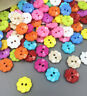 200Pcs Mixed Flower 2 Holes Acrylic Buttons fit Sewing and Scrapbooking 13mm