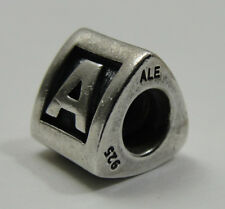 Authentic Pandora A Charm, Sterling Silver, Alpha Charm, 790323, Retired, #C131