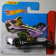 Hot Wheels 2014 #152/250 MADFAST purple HW RACE Short Card