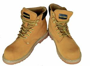 MEN'S SAFETY WORK SHOES BOOTS STEEL TOE CAP ANTISLIP OIL RESISTANT