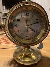 Seth Thomas Brass Nautical Schooner Gimbal Clock 1044 Sept 97
