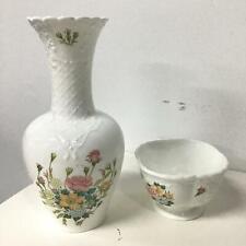 Coalport Rose Garden Vase and Bowl Porcelain Made in England #120