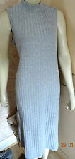 MARKS & SPENCER MARLI LIGHT GREY RIB MIDI DRESS SZE 14, 16 & 18 RRP £35