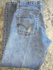 Vintage Levi's 501 Button Fly Blue Jeans Men's Tag Size 33X30 (32X29) WPL423