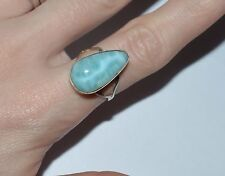 VINTAGE ARTISAN STERLING SILVER AND LARIMAR RING SIZE 7