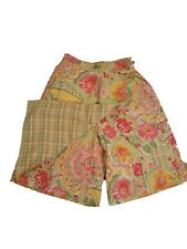New Oilily Vintage Girls Cotton Floral Wrap Skirt Skort Shorts 140 9-10
