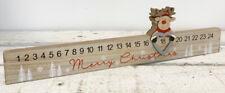 Wooden Reindeer Sliding Christmas Countdown Advent Calendar