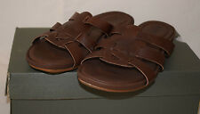 Timberland Earthkeepers Pleasant Bay Slide Brown Leather Mules Sandals UK4.5