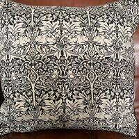 William Morris, brother rabbit design,cushion cover, red velvet, envelope back