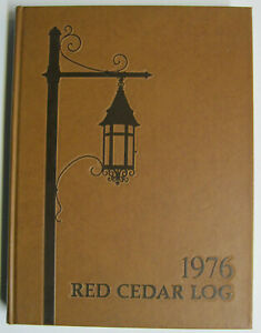 """1976 Michigan State University Yearbook: """"Red Cedar Log""""; Excellent Condition"""