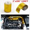 "200"" 5M 1200°f Car Turbo Exhaust Muffler High Temperature Heat Shield Wrap Tapes"