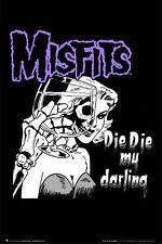 MISFITS - DIE DIE MY DARLING POSTER - 24x36 MUSIC BAND 4055