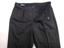 Polo Ralph Lauren Mens Gray Thick Wool Blend Pants Trousers 36x34 (36x33)