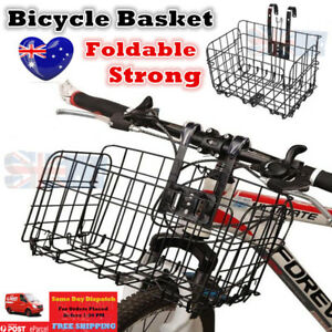 Easy Release Bicycle Basket for Front or Rear Extra Storage Bike Basket Black x1