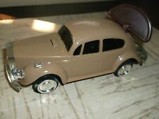 "Vintage Plastic CAR with WIND-UP KEY-Beige ROLLS ROYCE /Approx.7""x3""x3""/HongKong"