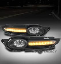 16-17 HONDA HR-V HRV VEZEL BUMPER FOG LIGHTS LAMP CHROME W/DRL LED BEZEL+HARNESS