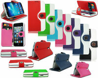 NEW DESIGN LEATHER FLIP WALLET POUCH CASE COVER FOR VARIOUS MOBILE PHONE MODELS