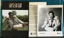 GET ON DOWN WITH BOBBY BLAND~ORIG 1973 ABC PRESS KIT w/PHOTO & BIOGRAPHY~BLUES