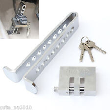 Car Brake 8 Holes Lock Stainless Steel Clutch Anti-Theft Security Device Chrome