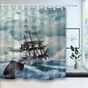 Ocean Shower Curtain Waterproof Fabric Bathroom Decor 60x70inch Various Size